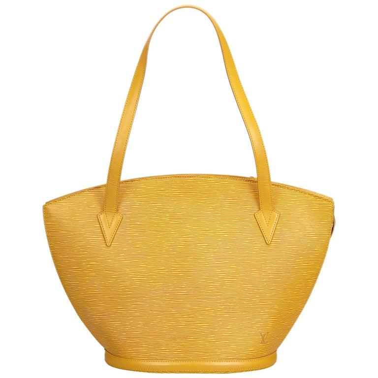 Vintage Authentic Louis Vuitton Yellow Saint Jacques GM Long Strap France LARGE  For Sale
