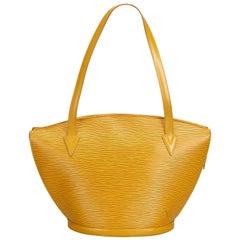 Vintage Authentic Louis Vuitton Yellow Saint Jacques Long Strap PM France SMALL