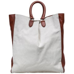 Vintage Authentic Margiela White Tote Bag France w Authenticity Card LARGE