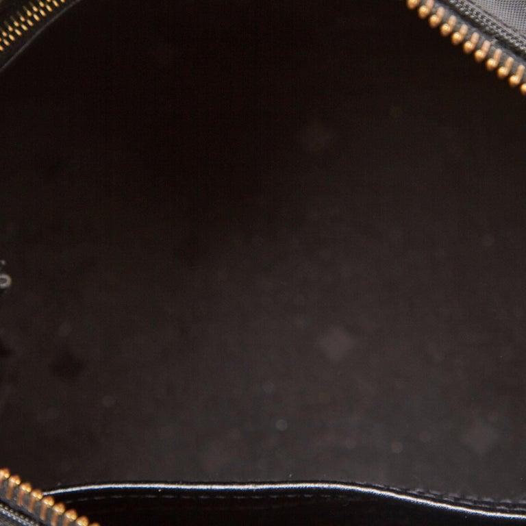 Vintage Authentic MCM Black PVC Plastic Visetos Boston Bag Germany MEDIUM  For Sale 1