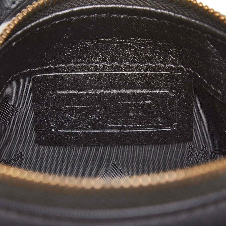 Vintage Authentic MCM Black PVC Plastic Visetos Boston Bag Germany SMALL  For Sale 2
