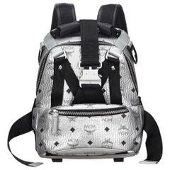 Vintage Authentic MCM Leather Visetos Jemison Backpack w Dust Bag MEDIUM