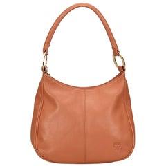Vintage Authentic MCM Orange Leather Shoulder Bag Germany MEDIUM