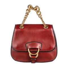 Vintage Authentic Miu Miu Leather Dahlia w Dust Bag Authenticity Card SMALL