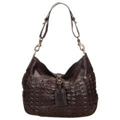 Vintage Authentic Mulberry Brown Leather Shoulder Bag UNITED KINGDOM w MEDIUM