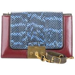 Vintage Authentic Mulberry Leather Python Pembroke Shoulder Bag w Dust Bag Key