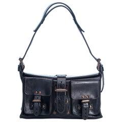 Vintage Authentic Mulberry Leather Roxanne Shoulder Bag w Dust Bag MEDIUM