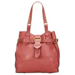 Vintage Authentic Mulberry Pink Leather Shoulder Bag United Kingdom MEDIUM