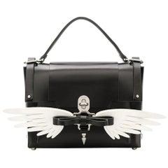 Vintage Authentic Niels Peeraer Black Calf Leather Wings Backpack Spain MEDIUM