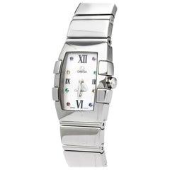 Vintage Authentic Omega Constellation Mini Quadrella Quartz Watch 1584 79 MINI