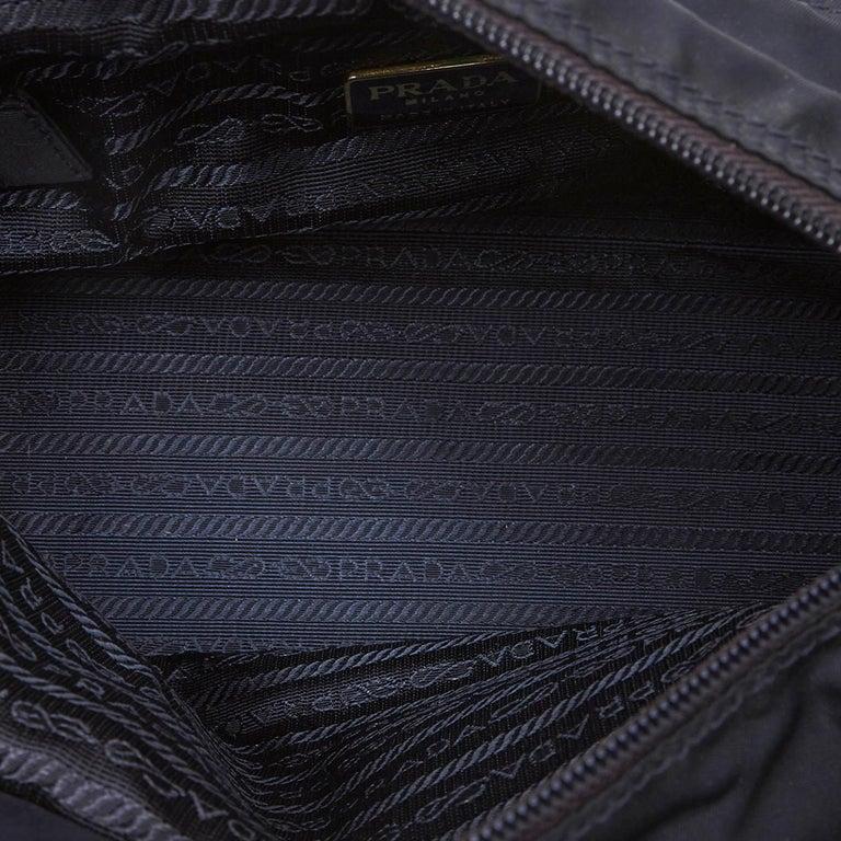 Vintage Authentic Prada Black Nylon Fabric Handbag Italy w MEDIUM  For Sale 1