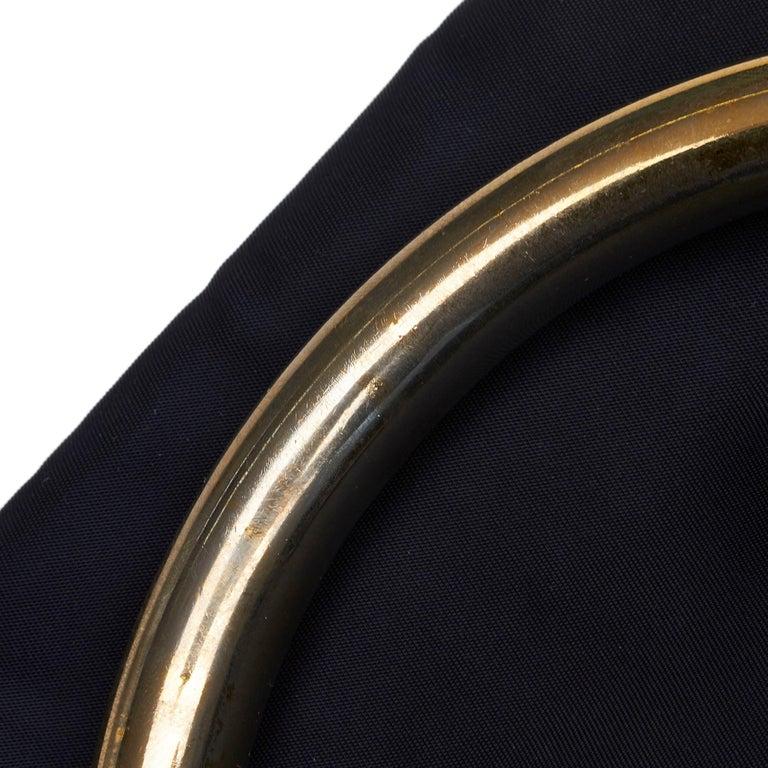 Vintage Authentic Prada Black Nylon Fabric Handbag Italy w MEDIUM  For Sale 5