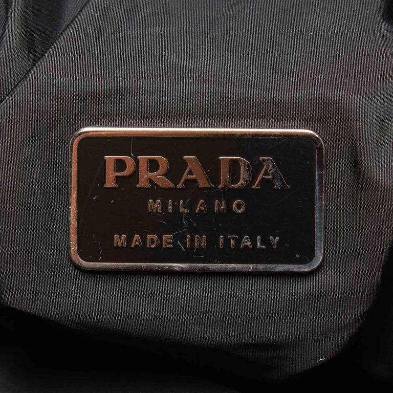 Vintage Authentic Prada Black Nylon Fabric Sports Backpack ITALY LARGE  For Sale 2