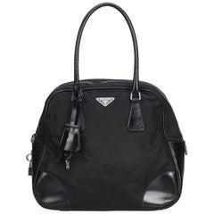 Vintage Authentic Prada Bowler Handbag w Dust Bag Authenticity Card Padlock Key