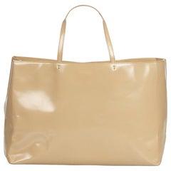 Vintage Authentic Prada Brown Beige Leather Tote Bag Italy w/ Dust Bag LARGE