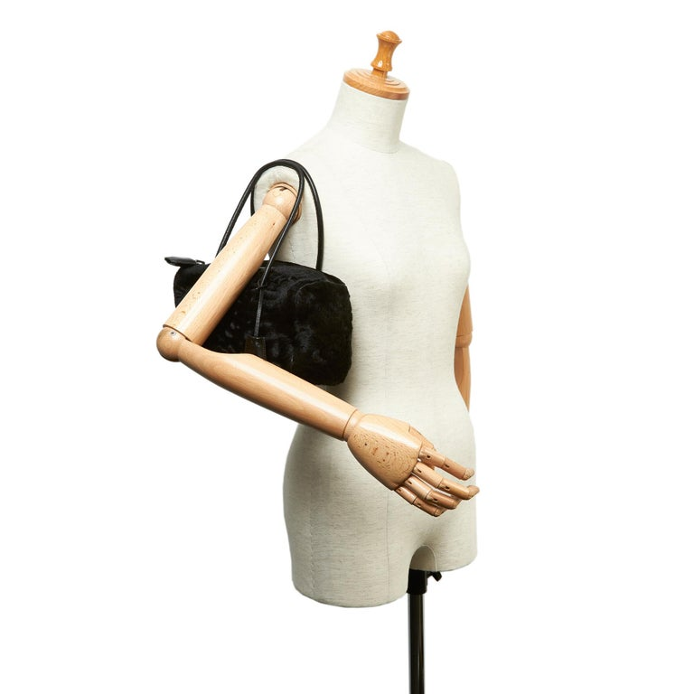 Vintage Authentic Prada Brown Calf Leather Vitello Shine Handbag Italy LARGE  For Sale 6