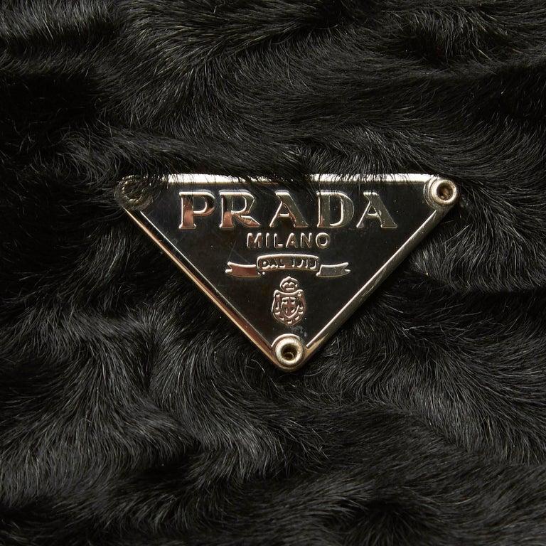 Vintage Authentic Prada Brown Calf Leather Vitello Shine Handbag Italy LARGE  For Sale 3