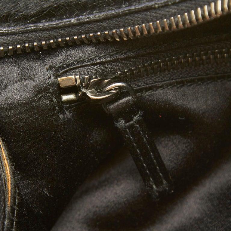 Vintage Authentic Prada Brown Calf Leather Vitello Shine Handbag Italy LARGE  For Sale 4