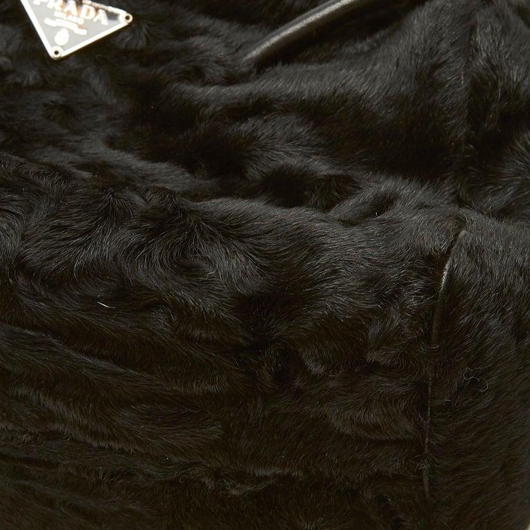 Vintage Authentic Prada Brown Calf Leather Vitello Shine Handbag Italy LARGE  For Sale 5