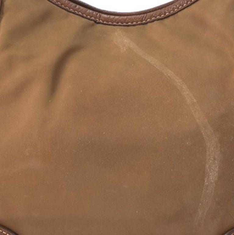 Vintage Authentic Prada Brown Nylon Fabric Shoulder Bag Italy MEDIUM  For Sale 5
