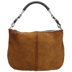 Vintage Authentic Prada Brown Shoulder Bag Italy w Authenticity Card MEDIUM
