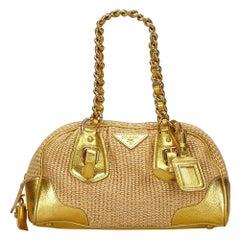 Vintage Authentic Prada Handbag Italy w Authenticity Card Padlock Key MEDIUM