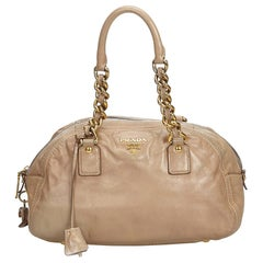 Vintage Authentic Prada Leather Handbag w Dust Bag Authenticity Card MEDIUM