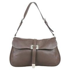 Vintage Authentic Prada Leather Shoulder Bag w Dust Bag Authenticity Card