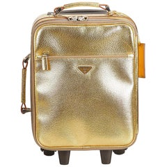 Vintage Authentic Prada Leather Trolley w Dust Bag Authenticity Card LARGE