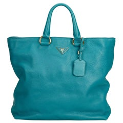 Vintage Authentic Prada Leather Vitello Daino Satchel Italy w Dust Bag LARGE