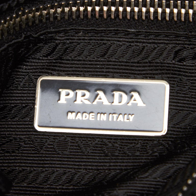Vintage Authentic Prada Shoulder Bag Italy w Dust Bag Authenticity Card SMALL  1