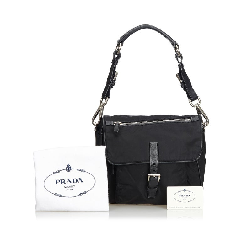 Vintage Authentic Prada Shoulder Bag Italy w Dust Bag Authenticity Card SMALL  4