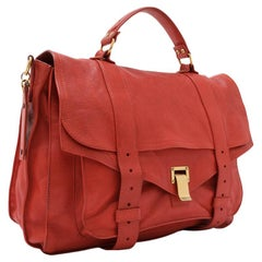 Vintage Authentic Proenza Schouler Red PS1 Large Satchel Italy w LARGE