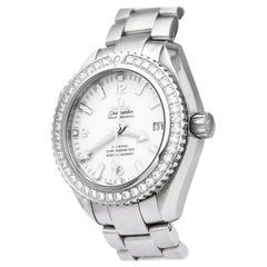 Vintage Authentic Seamaster Planet Ocean Diamond Automatic Watch 232 15 42 21 04