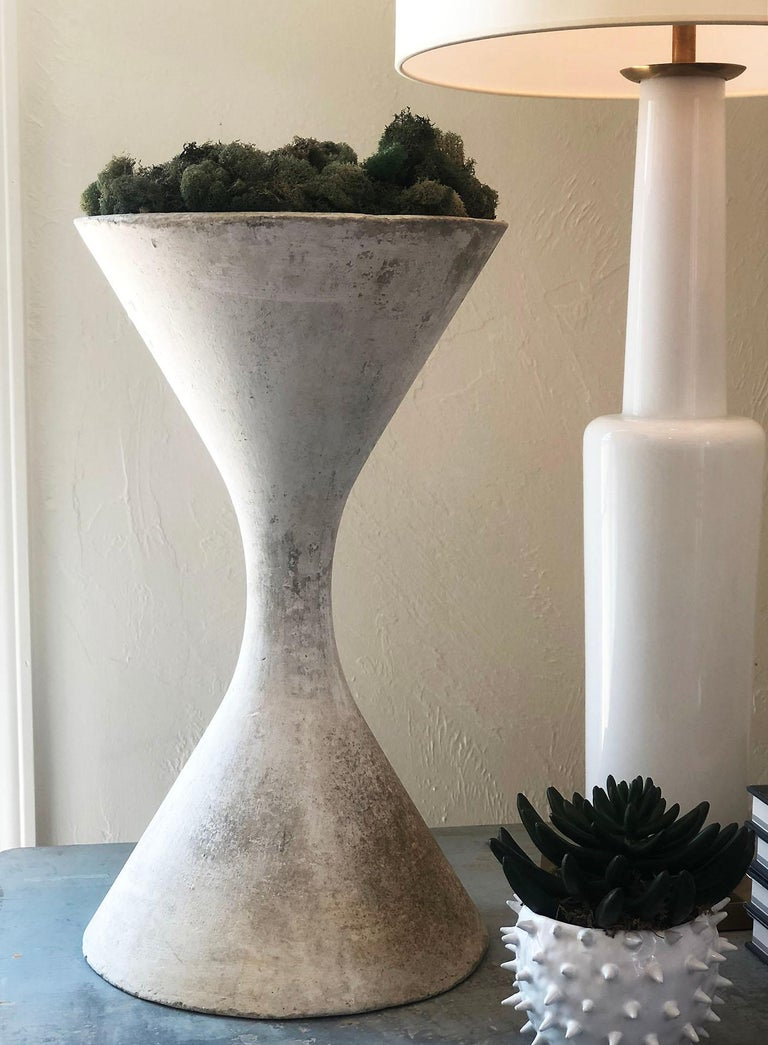 20th Century Vintage Authentic Willy Guhl Small Spindle Diabolo Planter