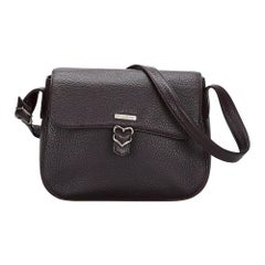 Vintage Authentic YSL Black Leather Crossbody Bag FRANCE MEDIUM