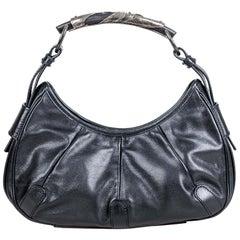 Vintage Authentic YSL Black Leather Mombasa Italy MEDIUM