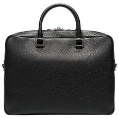 Vintage Authentic YSL Leather Sac De Jour Souple Briefcase w Padlock Key LARGE