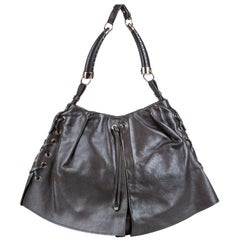Vintage Authentic YSL Leather Shangri La Mombasa Shoulder Bag France MEDIUM