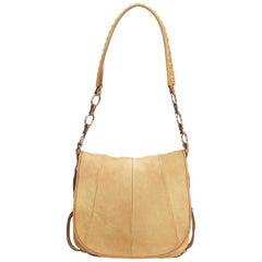 Vintage Authentic YSL Light Nubuck Leather Shoulder Bag France Dust Bag MEDIUM