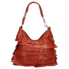 Vintage Authentic YSL Red Leather Saint Tropez Shoulder Bag Italy MEDIUM