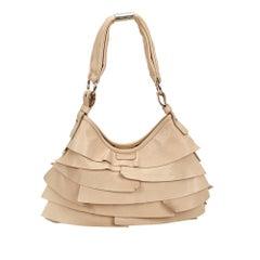 Vintage Authentic YSL White Leather Saint Tropez Shoulder Bag France MEDIUM
