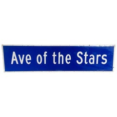 "Vintage ""Ave of the Stars"" Los Angeles Street Sign"