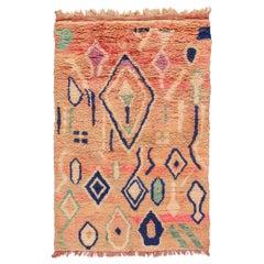 Vintage Azilal Moroccan Handmade Wool Rug