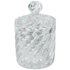 Vintage Baccarat Candy Jar with Lid