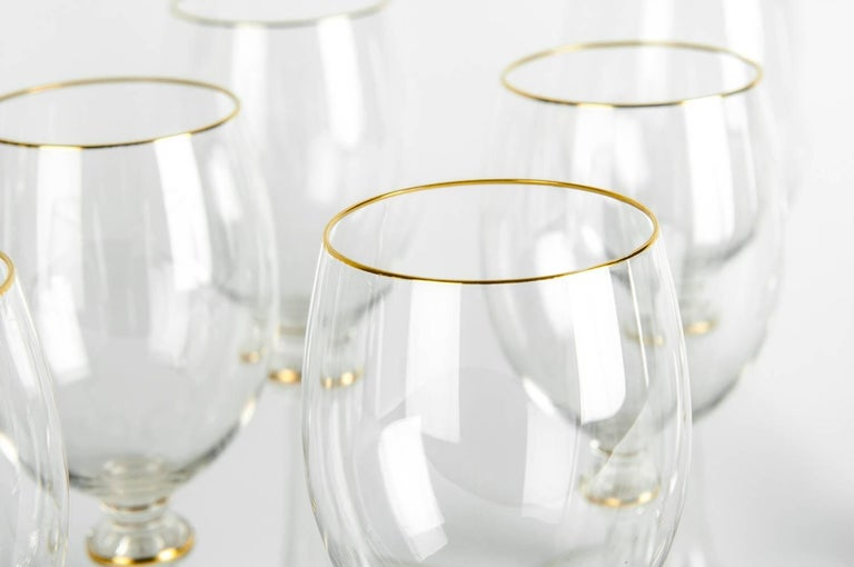 Vintage Baccarat Crystal Glassware Set In Excellent Condition For Sale In Hudson, NY