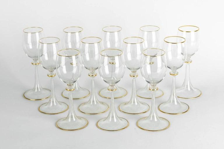 Vintage Baccarat Crystal Glassware Set For Sale 1