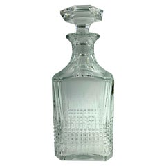 Vintage Baccarat Crystal Nancy Square Whiskey Decanter