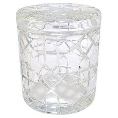 Vintage Baccarat Cut Glass or Crystal Cookie/Biscuit Barrel or Jar