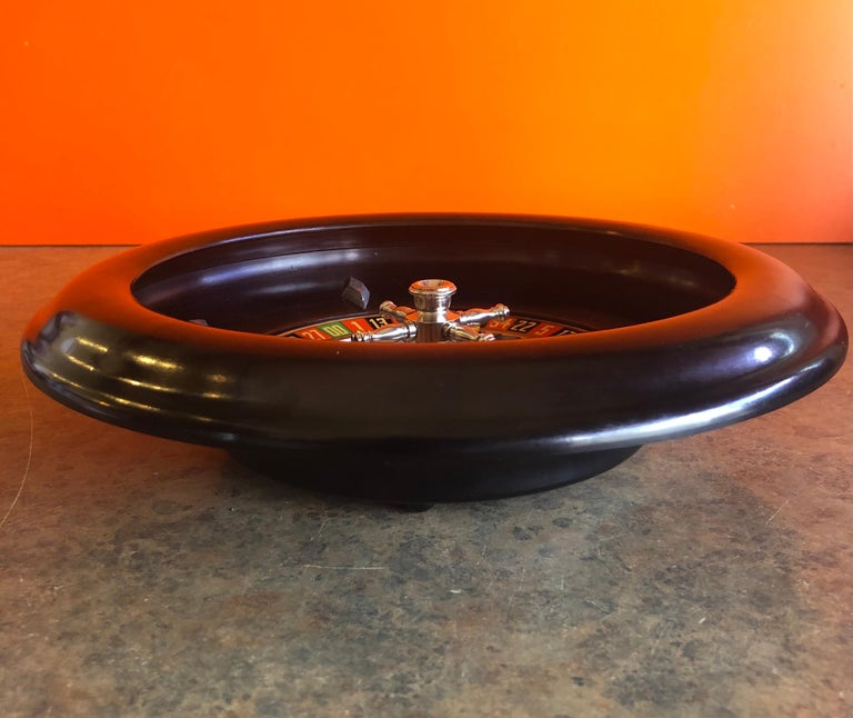 Vintage Bakelite Roulette Wheel by Rottgames In Fair Condition For Sale In San Diego, CA